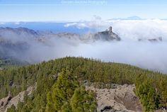 La llegada del mar de nubes. Gran Canaria.