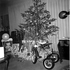 1957 old Christmas photo...tricycle.