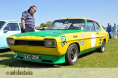 Ford Capri - Green Yellow with BP decals.