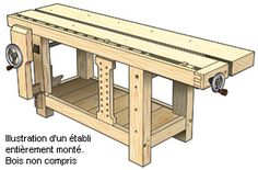 Plans pour établi de style Roubo et composants pour presses Benchcrafted™ - Travail du bois