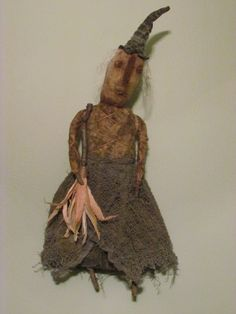Sweetpeas Primitives: Primitive Witch Doll ~ Buy it Now