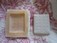 moule en latex: petit beurre de 4,5 cm de haut et de 5,5 cm de large : Accessoires de maison par moules-latex