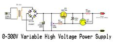 0-300V Variable High Voltage Power Supply