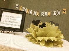 Activity Days – Proud to BEE Me – Recognition Activity