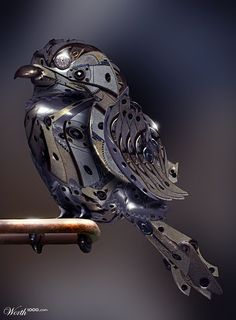 clockwork sparrow by catfish08