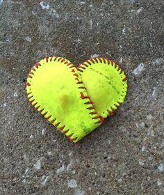 Softball Heart Softball Softball decor Love by ShabbyWorks on Etsy