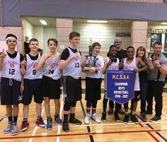 St. John's Brebeuf Gr 7-8 Boys Basketball Team - Manitoba Catholic Schools Athletic Assoc Champions