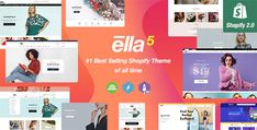 Ella - Multipurpose Shopify Sections Theme Brand Guidelines Template, Top Wordpress Themes, Cosmetic Shop, Men Store, Creative Portfolio, Creating A Business, Website Themes, Keynote Template, Psd Templates