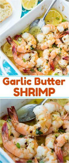 Garlic Butter Shrimp #appetizer #seafood