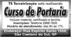 PRODUTOS E SERVIÇOS DA BRADO ASSOCIADOS: CURSO DE PORTEIRO EM PARCERIA COM A TS TERCEIRIZAÇ...