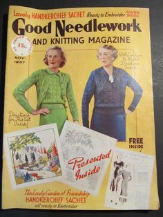 Vintage 1939 Good Needlework Knitting Magazine Fashion Needlework | eBay