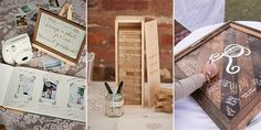 Today I have the pleasure of bringing you collection of our favorite guestbook ideas, which range from madlibs to a Jenga game! There's no limit...