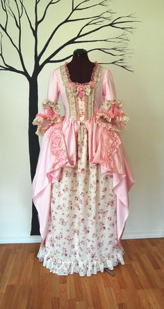 Rosy and Pink Marie Antoinette Victorian inspired by hhfashions, $220.00