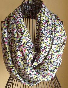 Abstract Floral Infinity Scarf by LislynDesigns on Etsy