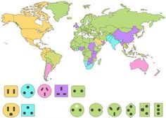 Types of plugs used in the world