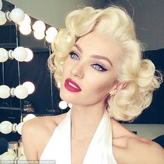 Max Factor Make UP makeup Candice Swanepoel Marilyn Monroe Style Chic Fashion Glam Haute Artists Photo Shoot
