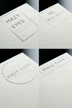 Set of logos designed for my client, Hazy Eyes Photography. Follow the link for additional details on the project. Photography Logo Design, Photography Logos, Photography Business, Business Logo Design, Portfolio Design, Studios, Photoshop, Branding, Graphic Design