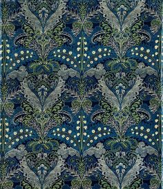 Lewis Foreman Day, Upholstery fabric, 1880. Cotton. Turnbull & Stockdale, Great Britain.    MUSEUM OF APPLIED ARTS, Budapest  TEMPTING TEAL   ZsaZsa Bellagio - Like No Other