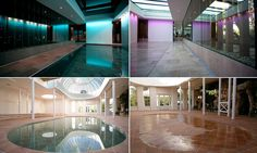 Amazing £500,000 swimming pools that transform into solid flooring #DailyMail #pools