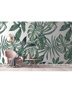 These fresh green leaves are an on-trend design capturing the amazing green palms of the tropic. Our custom murals can be printed in the size that your wall needs. Please contact us for more information Mural wallpaper Winnipeg, Canada. Green Leaf Wallpaper, Wallpaper Decor, Wall Painting Decor, Amazing Greens, House Decorations, Fresh Green, Green Leaves, Business Ideas, Wall Murals