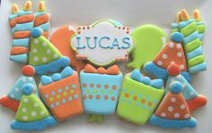 One Dozen Girl or Boy Birthday Decorated Sugar by DolceDesserts, $30.00