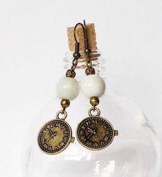 kolczyki zegarki vintage w Evedesign na DaWanda.com