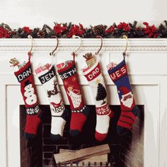 hand knit stocking