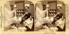 Strohmeyer & Wyman: A Dream Of Christmas, a stereocard from 1897-