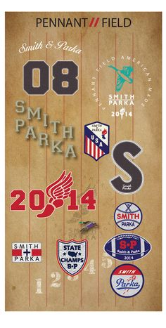 SMITH & PARKA- PENNANT FIELD GRAPHICS on Behance