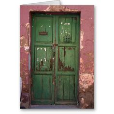 New Mexico green door.