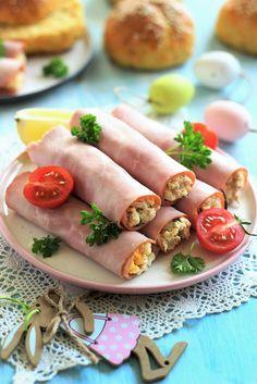Juditka konyhája: ~ TONHALAS TOJÁSOS SONKATEKERCS ~ Fresh Rolls, Ethnic Recipes, Food, Essen, Meals, Yemek, Eten