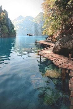You can substitute a morning cup of coffee with a morning belly flop into refreshing crystal blue water. Landscape Photography, Nature Photography, Travel Photography, Peaceful Places, Beautiful Places, Wanderlust Travel, Voyage En Camping-car, Coron Palawan, Destinations