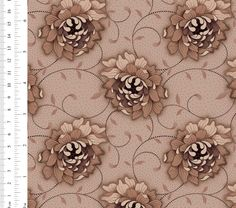 Ginger Lily Studio Sanctuary: AS0081 cw 02 Basket Weaving, Cotton Fabric, Delicate, Lily, Studio, Floral, Pattern, Collection, Design