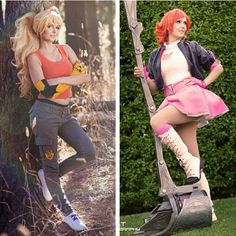 Manga Cosplay Floksy Locksy Cosplay - Yang and Nora - Rwby Cosplay, Cosplay Costumes, Cosplay Ideas, Cosplay Outfits, Anime Cosplay, Amazing Cosplay, Best Cosplay, Female Cosplay, Couple Halloween Costumes