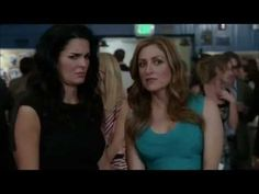 """LOVE this scene! Jane and Maura are at Jane's highschool reunion. Jane does NOT want to be there but Maura thinks it will be fun because she's never been to one! (: But a gross guy who like's Maura is there (second time they've seen him) and the girls pretend to be a couple. This is the second time they do this, and because of the same guy! I love how Jane pushes Maura away on her breast, and Maura's looks like: """"Wait, what?"""". And Maura totally snuggles into Jane's neck.  So funny and…"""