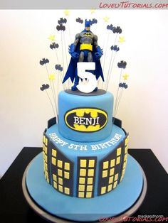 Batman cake tutorial