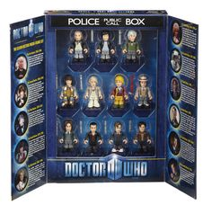 Pack 11 mini figuras Doctor Who. 11 Doctores, 7cm