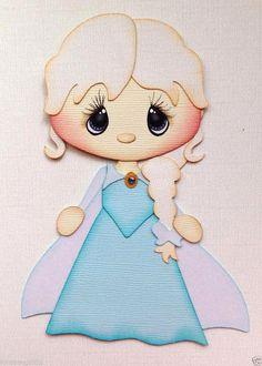 FROZEN GIRL PRINCESS ELSA PAPER PIECING BY MY TEAR BEARS KIRA  #Handmade