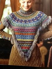 Victory Fair Isle pattern by Nicky Epstein knitted with the amazing @rowanyarns Felted Tweed