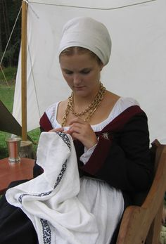 16th c german. Her hair looks perfect!
