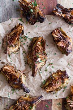 Pan Fried Lemony Artichokes with Asparagus Pistachio Pesto Pasta | halfbakedharvest.com