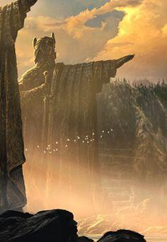 Art Print - The Argonath - Pillars of the Kings