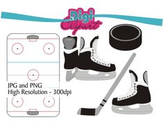 Hockey Clipart Ice Skates Puck Stick Hockey by digifotosclipart, $4.49 Hockey Birthday, Sports Clips, Ice Rink, Advanced Yoga, Little Corner, Hockey Girls, Camping Gifts, Camping Accessories, Sewing Hacks