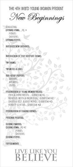 Young Women New Beginnings Program