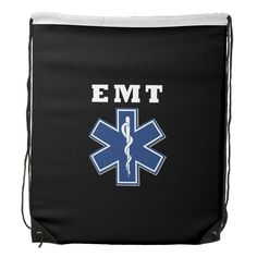 EMT Star of Life Drawstring Backpacks