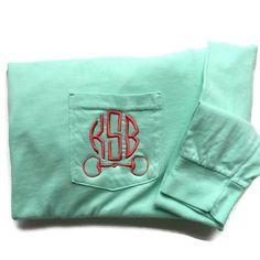 Horsebit Monogram Shirt In gray shirt with light pink stitching