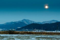 by adamglennphotography..Buan, Korea, moonrise