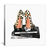 Found it at Wayfair - 'Leopard Shoes And Books' by Rongrong DeVoe Painting Print on Wrapped Canvas