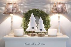 Weihnachtsdeko - Tannenbäumen Noel Größe S weiß - ein Designerstück von snuggles-cottage bei DaWanda