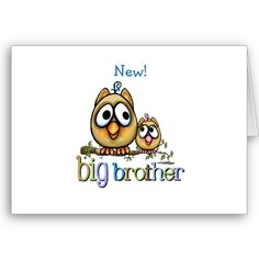 Big Brother - Baby Sis Owls Cards from http://www.zazzle.com/new+baby+sister+cards